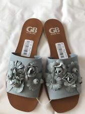 GB Gianni Bini CHAR ISMA 3D floral slip-on sandals blue, size 8 M