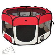 Parc à chiots chatons Enclos pliable rouge transportable pour chiens ou chats