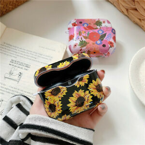 Glossy Marble Floral Pattern Hard Case For Sony WF-1000XM3 Earphone Charger Case