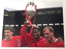 RARE John Barnes Liverpool Signed Photo + COA + PROOF AUTOGRAPH ENGLAND
