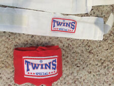 Lot of 1 Red & 2 White Boxing tape Hand Wrist Wrap Boxing Glove Tape Twin 16 Ft