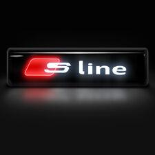 SLINE Logo LED Light Car Front Grille Emblem Badge Illuminated Sticker For AUDI