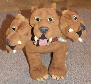 2001 Harry Potter Fluffy 3 Headed Dog Stuffed Toy