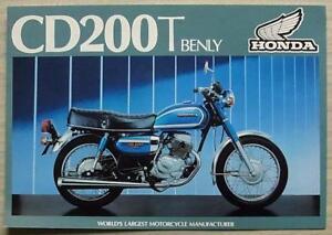 HONDA CD200T BENLY (CD200T-A) MOTORCYCLE Sales Brochure 1981