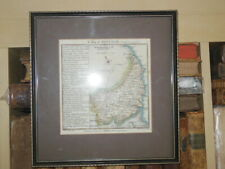 SUFFOLK; Hand Coloured Map (1741) Glazed & Framed, Thomas Badeslade/William Toms