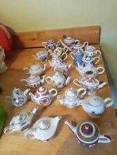 More details for 22 x porcelain art miniature teapot collection