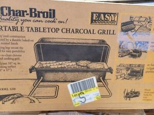 Vintage 1997 New in Box Char-Broil Portable Tabletop Charcoal Grill USA