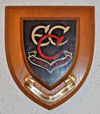 Vintage Edgbaston Church of England College for Girls school plaque shield crest