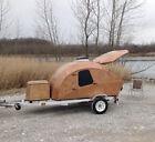 Teardrop Camper Trailer Wood Woody Vintage RV