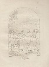 1803 Raffaello incisione in acciaio Gesù e la Samaritana