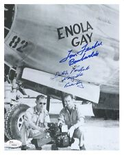 TOM FEREBEE+DUTCH VAN KIRK HAND SIGNED 8x10 PHOTO    JSA   RARE   ENOLA GAY CREW