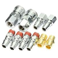 10PCS 1/4 Inch BSP Air Line Hose Compressor Release Fittings Connector Coupling