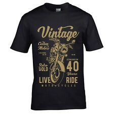 Funny VINTAGE Biker 40 year Old motorcycle mens t-shirt top 40th birthday gift