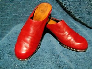 NAOT HUNTINGTON Red Leather Mules Size 40 / 9