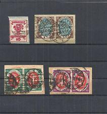Deutsches Reich,1919 Michelnummern: 107 - 110 o, gestempelt, Katalogwert € 20,00