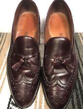 Allen Edmonds Made in USA Manchester 8577 Brown Tassel Wingtip Loafers 13B