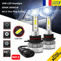 110W 26000LM 9012 LED Ampoule Voiture Feux Lampe DRL Kit Phare Xenon Blanc 6000K
