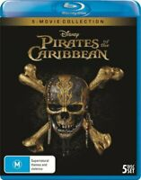 PIRATES OF THE CARIBBEAN 5 Film Collection (Region Free) Blu-ray Disney