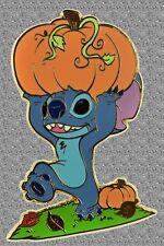 Stitch Pin Carrying Pumpkin  Pin with Fall Foliage - Disney Shopping LE 350