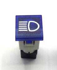 Cobo azul alta haz de luz coche Dash Board Panel Lámpara Luz de advertencia 12V 24V 19MM