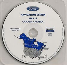 2005 2006 2007 Ford Escape Hybrid Navigation CD Map #12 Cover Canada Alaska