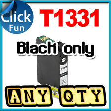 3x Ink Cartridge T133 T1331 Black Only for Epson N11 NX125 NX420 NX430 Printer