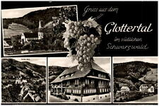 Glottertal Schwarzwald Mehrbildkarte ~1950/60 Gasthof Goldener Engel Kirche u.a.