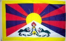TIBET FLAG 5X3 FEET Tibetan Buddhist Dalai Lama Lhasa Chinese flags Nedong
