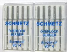 SHMETZ ELx705CF 90/14 Serger Needles Elna,Singer,Pfaff,Viking,Bernina 10needles