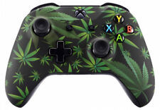 """420 Black"" Xbox One S / X Custom UN-MODDED Controller Unique Design"
