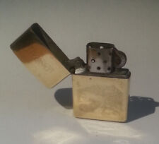 Nice Zippo Vintage Lighter Brass  Engraved real estate DORAL 1996 (HB186)