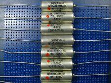 VINTAGE PAPER IN OIL CAPACITOR GUDEMAN 0.33UF/200V LOT OF 25