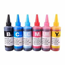 6x100ML Bulk Refill Ink Set For Epson Photo Stylus 1400 Artisan 1430 T079 CISS