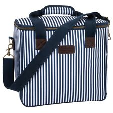 Three Rivers Insulated Family Cool Bag 20L Double Zip Closure Shoulder Strap