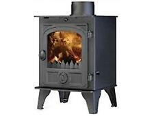Hunter Hawk 4 Double Sided Multi Fuel Stove Wood Burning Fire 6kw