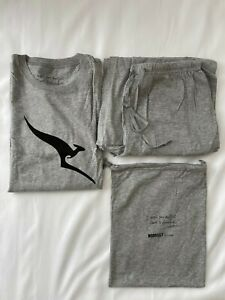 "QANTAS Business Class Pajamas by ""Morrissey"" L/XL Grey Sealed"