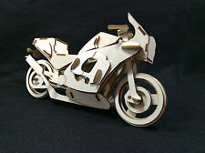 Sports Superbike Laser Cut Wooden 3D Model/Puzzle Kit
