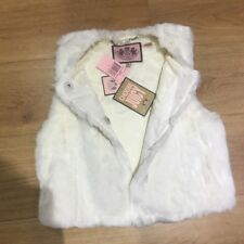 Womens Brand new Juicy Couture Faux Rabbit Fur Vest - Size Small