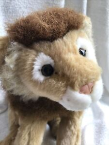 "Toys R Us Animal Alley Lion Plush Stuffed Animal 10"" Body Used Condition"
