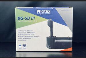 NEW Phottix Battery Grip BG-5D III for Canon EOS 5D Mark III Digital SLR Camera