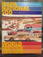 1977 Napa National 500 race program Charlotte Benny Parson WIN