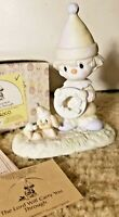 """1988 Precious Moments """"The Lord Will Carry You Through"""" Porcelain Figurine 12467"""