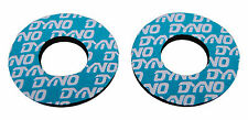 Dyno old school BMX bicycle grip foam donuts WHITE on AQUA (LICENSED)