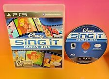 Disney Sing It Family Hits (Sony PlayStation 3, 2010) Lion King PS3 Rare