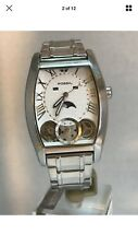 Fossil Men's Moon-Phase Silver Dial Quartz Day,Date,Month Bracelet Watch ME-1013