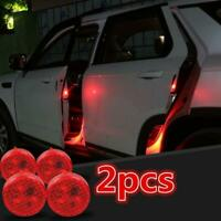 2 Pcs/Set Universal Car Wireless LED Door Opened Warning Signal Light Safety UK