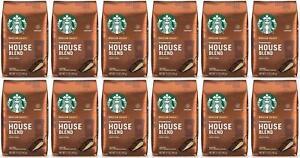 12 PACK Starbucks House Blend Ground Coffee 12oz each Best Before 2/2021