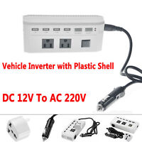 400/800W Car Pure Sine Wave Power Inverter DC 12V To AC 220V Charger