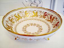 CAMILLE LE TALLEC Atelier Paris Porcelain Limoges Footed Gilded Bowl circa 1946