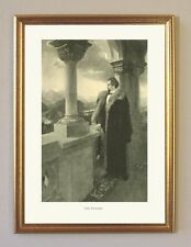 König Ludwig II. von Bayern Der Einsame von 1880 Faksimile 27 im Goldrahmen
